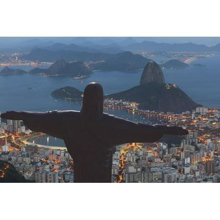 Statue of Christ the Redeemer, Corcovado, Rio De Janeiro, Brazil, South America Print Wall Art By Angelo