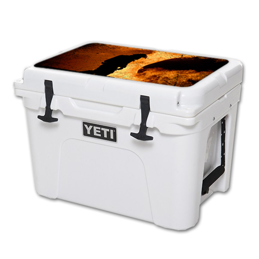MightySkins Protective Vinyl Skin Decal for YETI Tundra 35 qt Cooler Lid wrap cover sticker skins Fire Fighter
