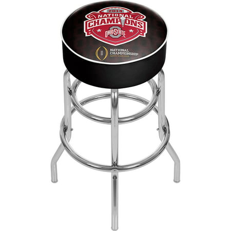 Ohio State National Champions Chrome Bar Stool With Swivel  Fade
