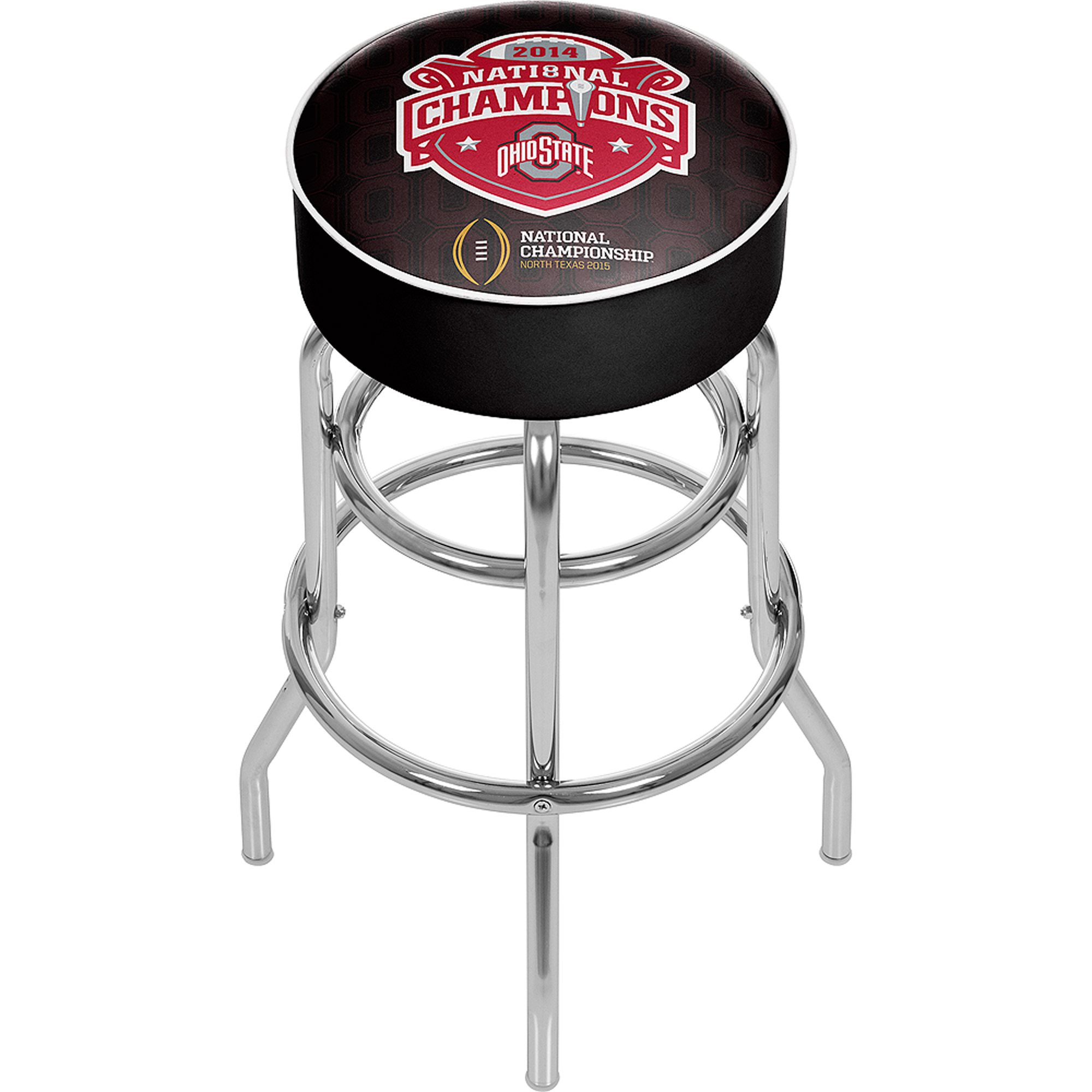 Ohio State National Champions Chrome Bar Stool with Swivel, Fade