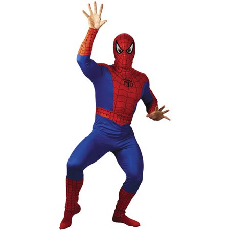 Spider-Man Adult Halloween Costume](Adult Spiderman Onesie)