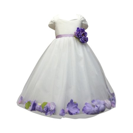 f81d2169dd0 Precious Kids - Little Girls White Lavender Floating Petals Flower ...