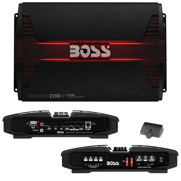 Boss Audio PT2200 Phantom 2200W 2-Channel Full Range, Class A/B Amplifier