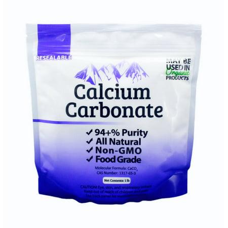 1 lb Food Grade 97+% Calcium Carbonate from Ground Limestone