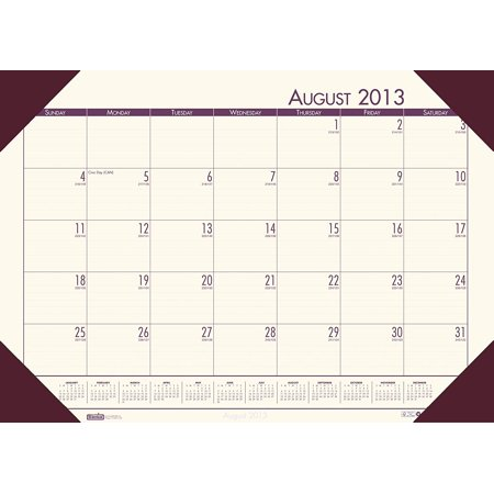 Ecotone Academic Desk Pad Calendar 13 X 18 5 Inches Cream 12 Months August 2013 To July 2014 Recycled Materials  Hod012541   Printed On 100  Recycled    By House Of Doolittle