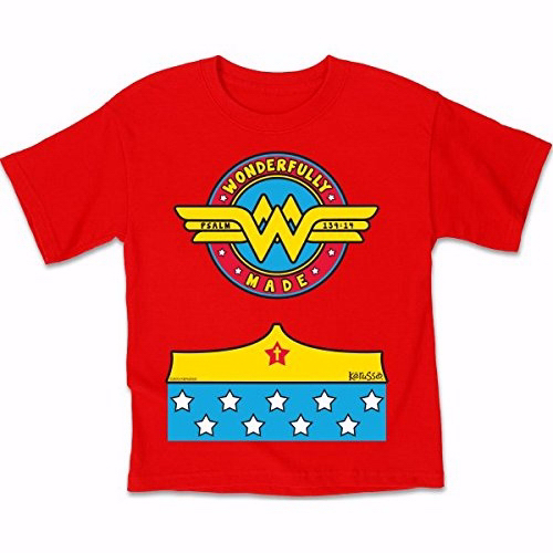 Tee Shirt-Wonderfully Made (Youth)-Small-Red