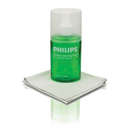 Philips LED LCD Plasma Screen Cleaner Kit, 6.75fl. oz, 200ml, Polyester Microfiber Cloth, Eco-Friend