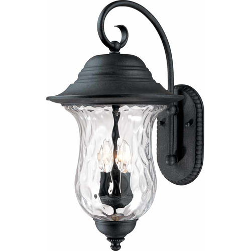 Volume Lighting Aurora 3-Light Outdoor Wall Lantern