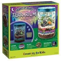 Creativity for Kids Grow n Glow Terrarium Kit  STEAM Activity  Kids Terrarium Kit