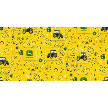 John Deere Cotton Bandana Tractor Patch Fabric, per Yard