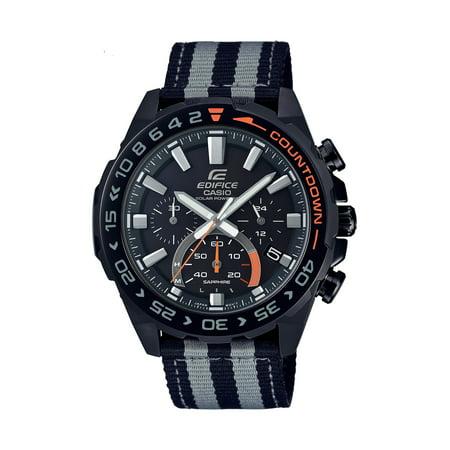 Casio Men's Edifice Solar Powered Chronograph Watch, Nylon Strap