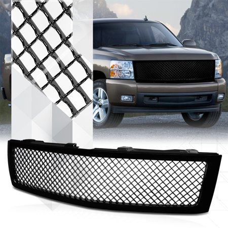 Black ABS 3D Wave Mesh Front Bumper Grille/Grill for 07-13 Chevy Silverado 1500 08 09 10 11 12