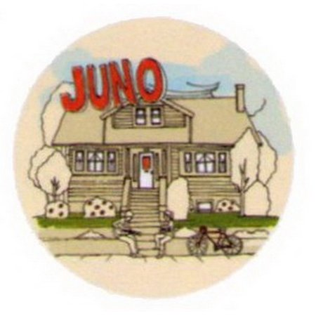 Juno Hanging Out In Front of House Button JB3536