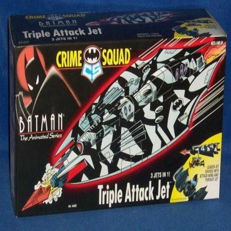 Batman the Animated Series Crime Squad Triple Attack Jet by