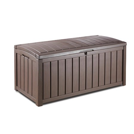 Keter Glenwood Outdoor Patio Furniture 101 Gallon Plastic Deck Box