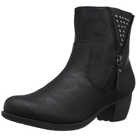 Easy Street Womens Rylan Faux Leather Studded Ankle Boots