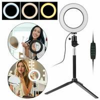 "TSV Ring Light Kit, 6.3"" Outer 3-Light Color 5500K Dimmable LED Ring Light, Light Stand, Carrying Bag for Camera,Smartphone,YouTube,Self-Portrait Shooting"