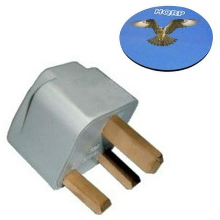 Great Britain Adapter Plug - HQRP International USA to UK British Travel Plug Adapter