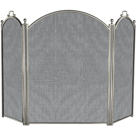 Uniflame 3-Fold Satin Pewter Large Fireplace Screen