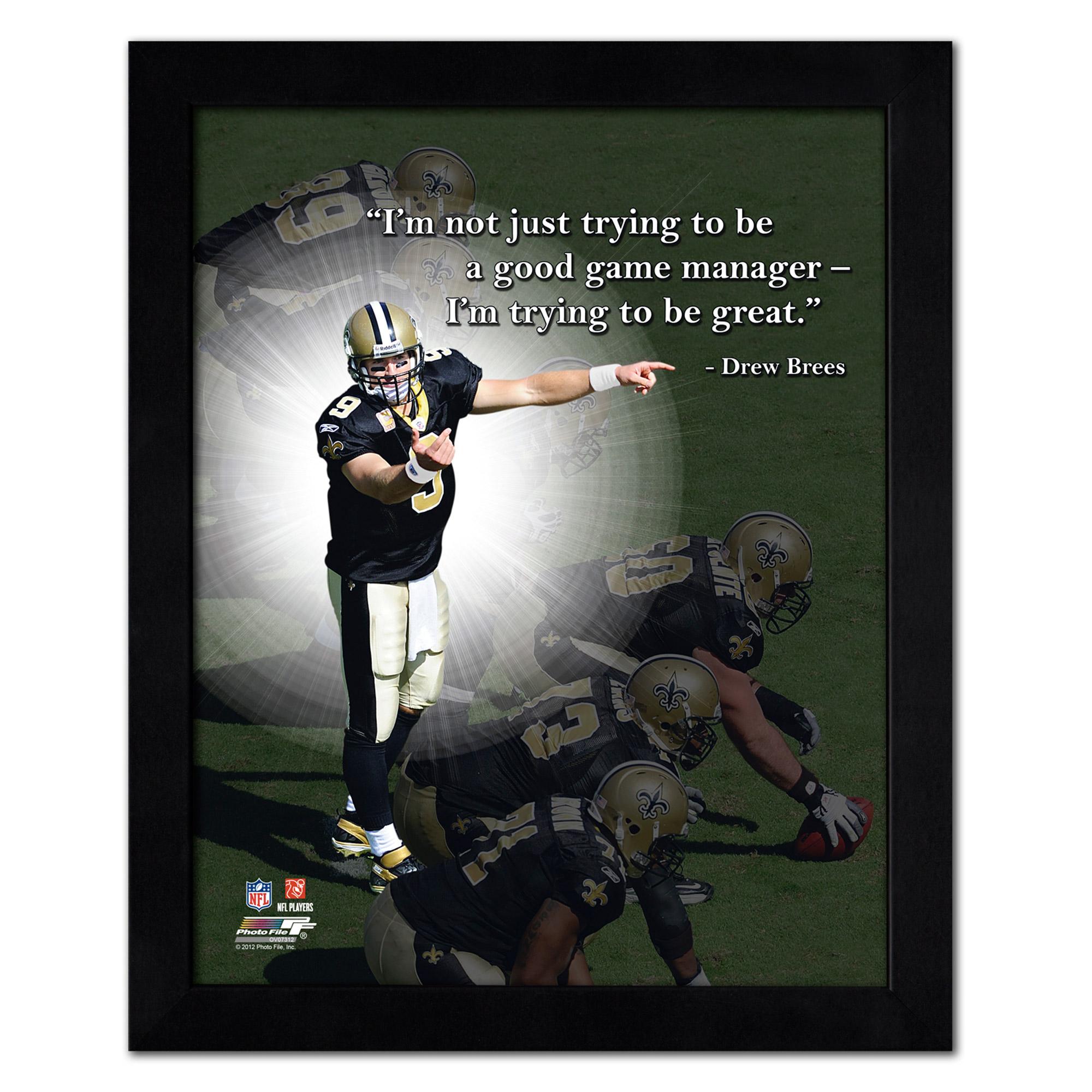 """Drew Brees New Orleans Saints 18"""" x 22"""" ProQuote Photo - No Size"""