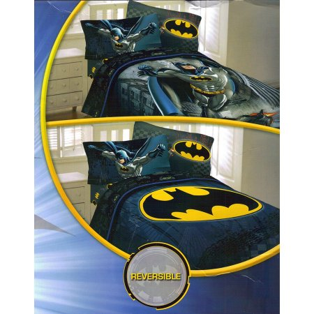 Batman Full Comforter and Sheet Set with Throw