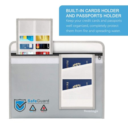 Fireproof Money & Document Bag,Fireproof Safe Bag 15.8