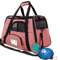 PetAmi Premium Airline Approved Soft Sided Pet Cat Carrier , Multiple Colors