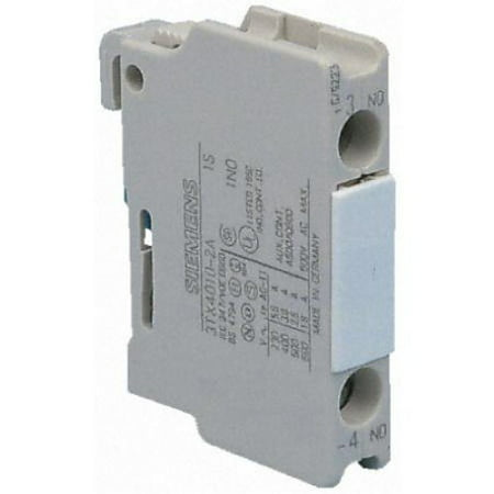 SIE 3TX4010-2A Auxiliary Contact Block, without Position Indication for Plugging onto Contactors, By Siemens