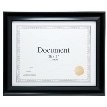 Enigma 8.5 In. by 11 In. Document Frame, Black - Frames In Bulk
