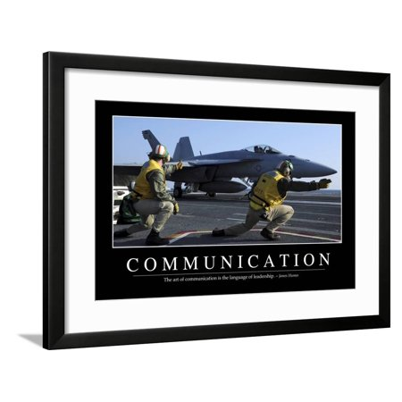 Communication: Inspirational Quote and Motivational Poster Framed Print Wall - Communication Motivational Wall