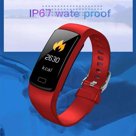 Fitness Tracker with Heart Rate Monitor Blood Pressure Smart Bracelet Color Display Sports Watch Pedometer Step Calorie for Women Men Kids - image 4 of 9