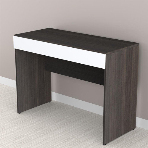 Nexera Allure Desk, White/Ebony