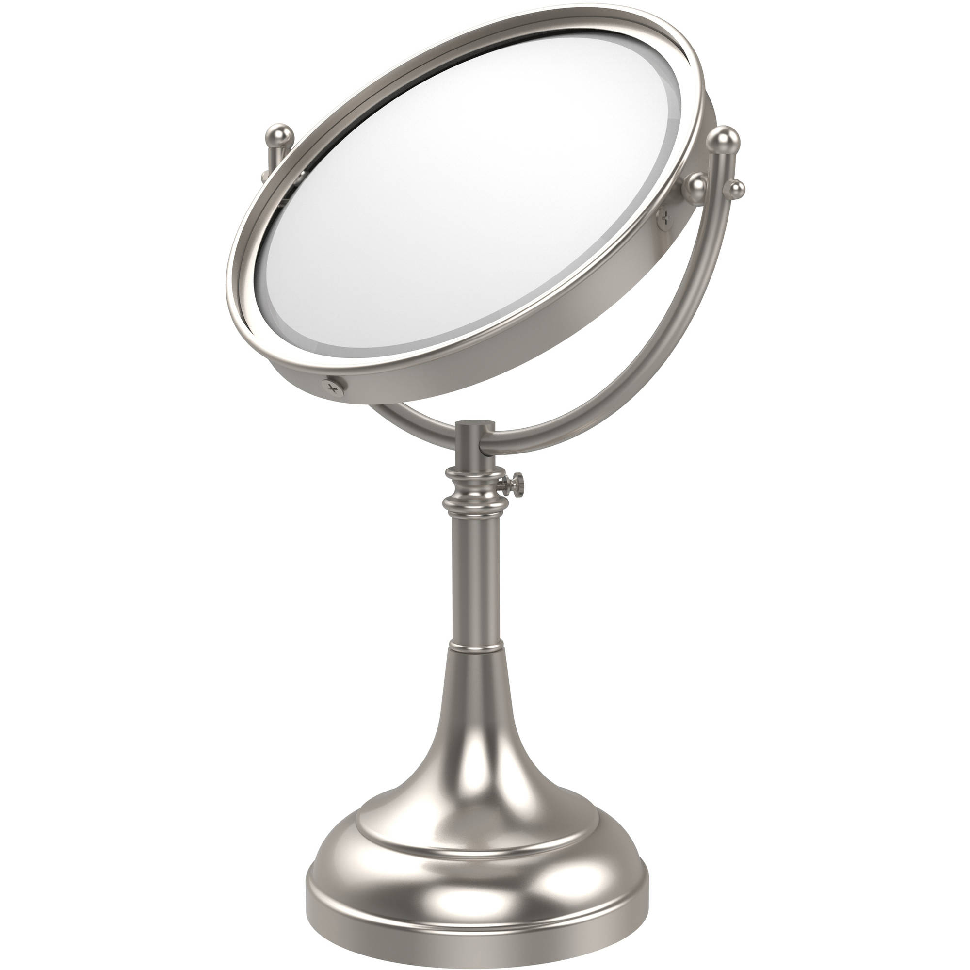"""Height Adjustable 8"""" Vanity Top Make-Up Mirror, 2x Magnification (Build to Order)"""