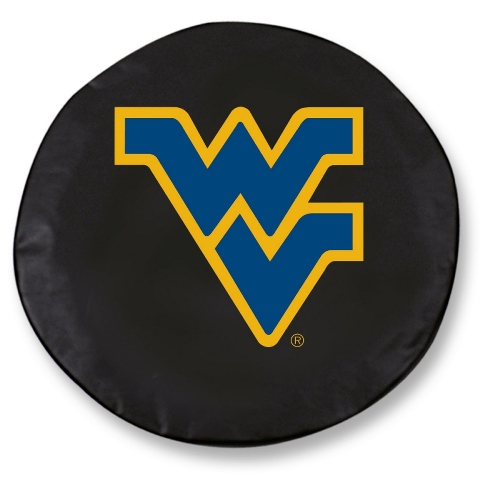 NCAA Tire Cover by Holland Bar Stool - WVU Mountaineers, Black - 30.75'' x 10''