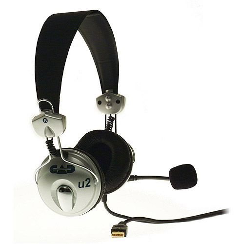 CAD Audio USB Stereo Headphones with Microphone, Black