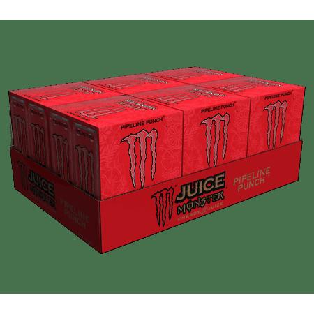 (24 Cans) Monster Energy Drink, Pipeline Punch, 16 Fl (Monster Energy Kawasaki)