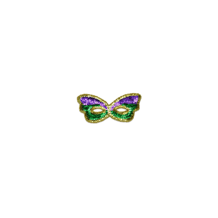Expo Int'l Iron-on Mardi Gras Scalloped Mask - Halloween And Party Expo