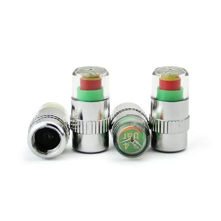 Car Auto Tire Pressure Monitor Tire Gage Alert Sensor Indicator Valve Caps -