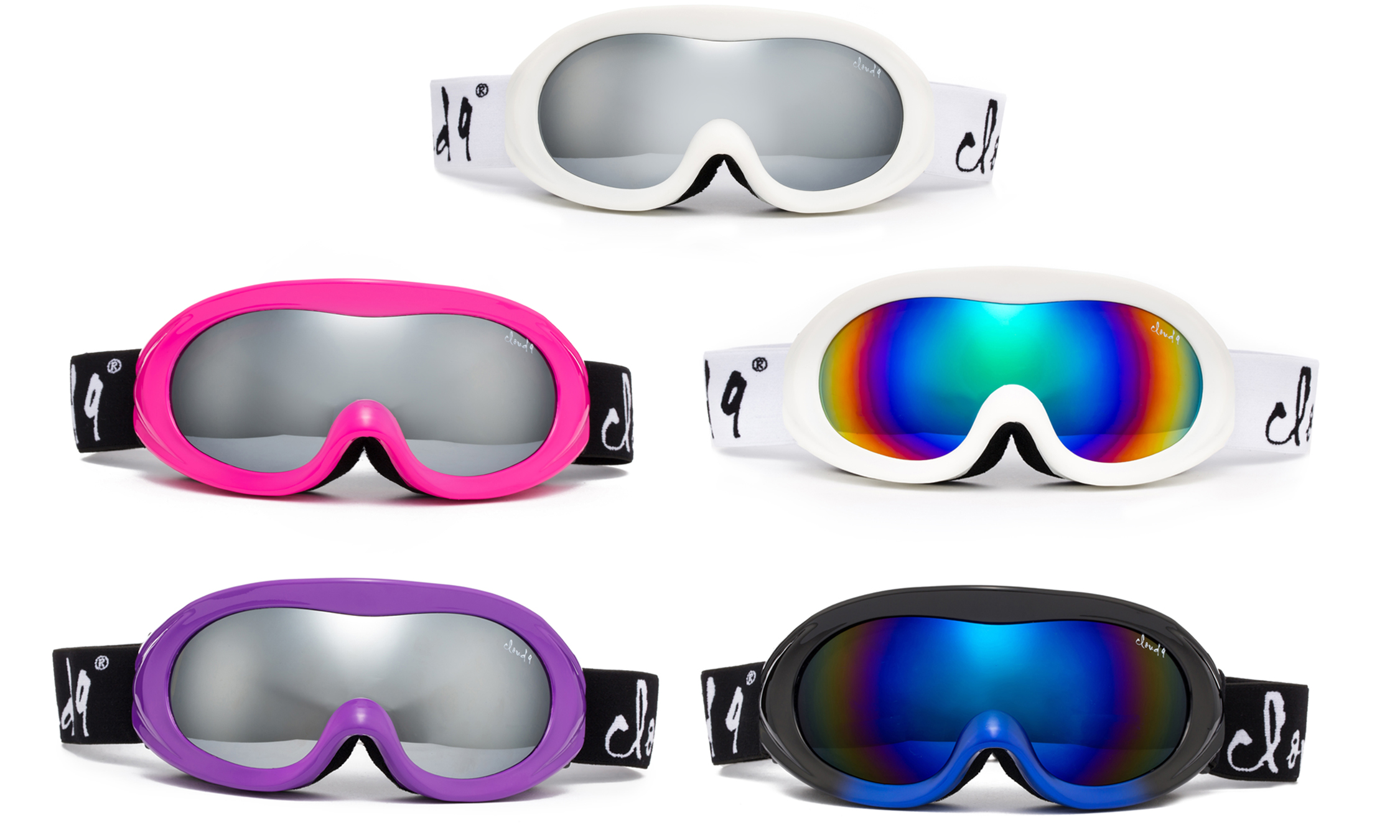 "Cloud 9 Snow Goggles ""Poptart"" Anti-Fog Windproof UV400 Dual Lens Snowboarding Ski Spherical Lenses (1 Pair... by"