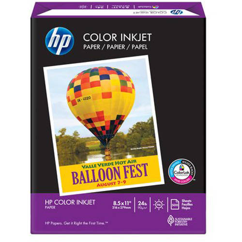 HP Color Inkjet Paper, 500 Sheets