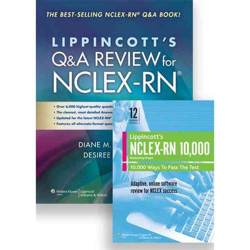 Lippincott's Q&A Review for NCLEX-RN + NCLEX-RN 10,000 PrepU