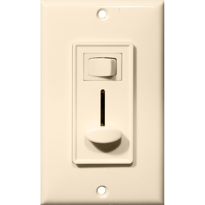 Morris Products 82753 Slide Dimmer With Switch Almond Single Pole by Morris Products