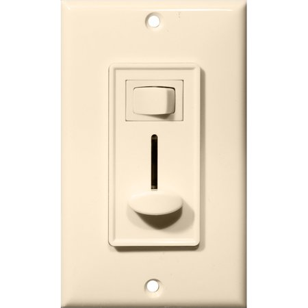 Morris Products 82753 Slide Dimmer With Switch Almond Single Pole Slide Almond Dimmer
