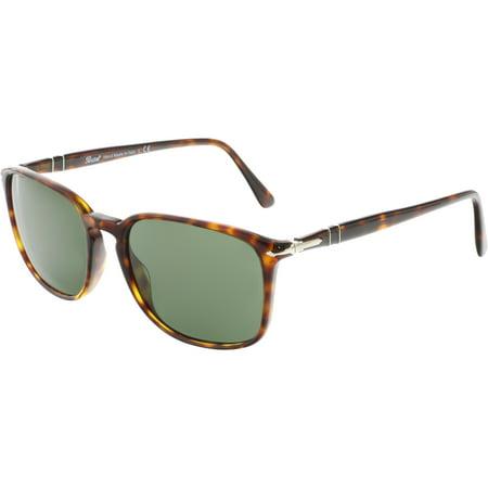 Persol Men's PO3158S-24/31-56 Brown Rectangle Sunglasses ()