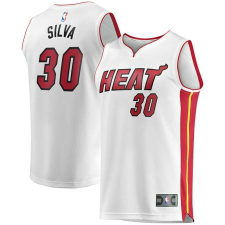 Chris Silva Miami Heat Fanatics Branded Fast Break Replica Player Jersey White - Association Edition