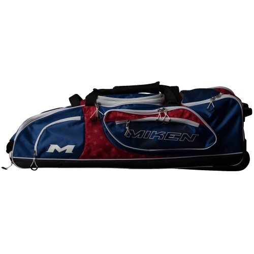 Miken Championship Wheeled Bag MKBG18-CH - Red/White/Blue
