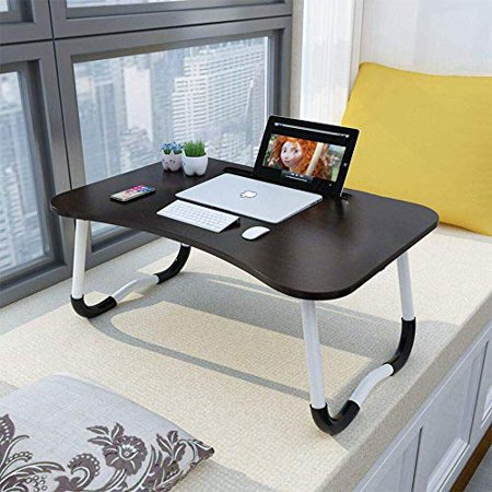 Widousy Laptop Bed Table Breakfast Tray with Foldable Legs Portable Lap Standing Desk 'Notebook Stand Reading Holder - image 5 of 5