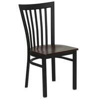 Flash Furniture HERCULES Series Black School House Back Metal Restaurant Chair, Wood Seat, Multiple Colors