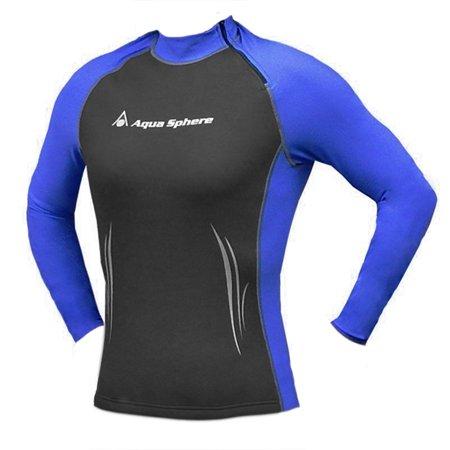 Aqua Sphere Womens Swim Skin Wetsuit Top Long Sleeve High Neck Rash Guard Shirt (Sleeve Skin Suit)