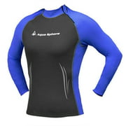 d0f10739dc Aqua Sphere Womens Swim Skin Wetsuit Top Long Sleeve High Neck Rash Guard  Shirt